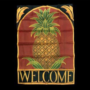 NWOT Welcome Pineapple Outdoor Flag